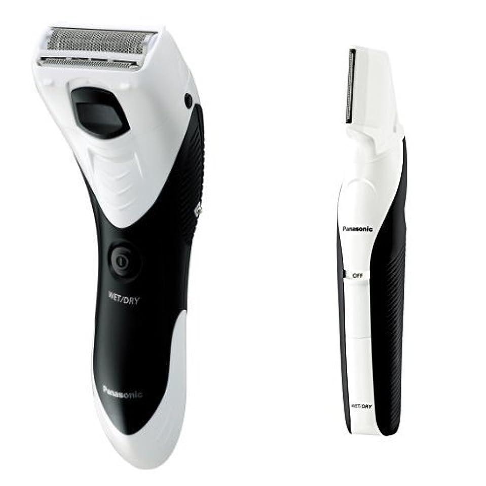 正直喉頭切断するパナソニック メンズシェーバー ボディ用 お風呂剃り可 白 ER-GK40-W + ボディトリマーセット