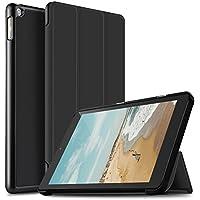 IVSO Fire HD 10 タブレット ケース 新型 All-New Fire HD 10 Tablet カバー スタンド機能付き 保護ケース 三つ折 マグネット開閉式 薄型 超軽量 全面保護型 Fire HD 10(2017) スマートケース ブラック