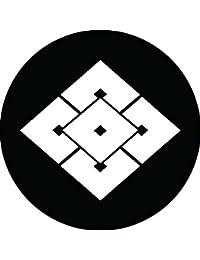 家紋シール 重ね五つ目菱紋 布タイプ 直径40mm 6枚セット NS4-1865