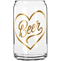 簡単、Tiger Beer Glass with Foil Single Glass ゴールド 1EZR1650