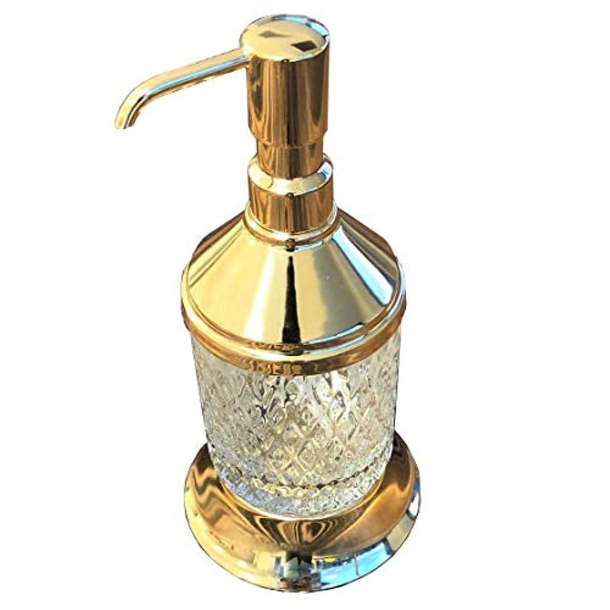 オンスバレルウルルラグジュアリー真鍮Liquid Hand Soapまたはローションdispenser-goldバスルームdecor-brassバスルームアクセサリー