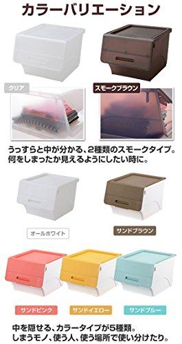山善(YAMAZEN) オープンボックス フタ付き収納ボックス 2個組 深型 キャスター付き ホワイト