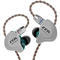CCA C10カナル型イヤホン 亜鉛合金プレート+PC樹脂筐体 2PIN 3.5MM 4バランスド・アーマチュア・1ダイナミック&(4BA+1DD) 5ドライバ搭載 高音質 ノイズ遮断 フィット感良い 中華イヤホン (グリーン)