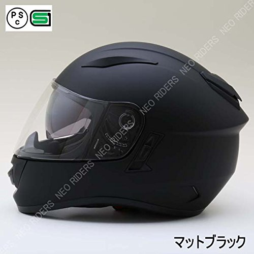 NEO-RIDERS (ネオ ライダース) ZX9 フルフェイスヘルメット マットブラック XLサイズ 61-62cm未満 SG/PSC ZX9 B079ZNBY86 1枚目