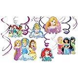 ディズニー プリンセス パーティーグッズ 誕生日 飾り スワールデコレーション ハンギング 12個セット Swirl Decorations 並行輸入品 Disney Princess