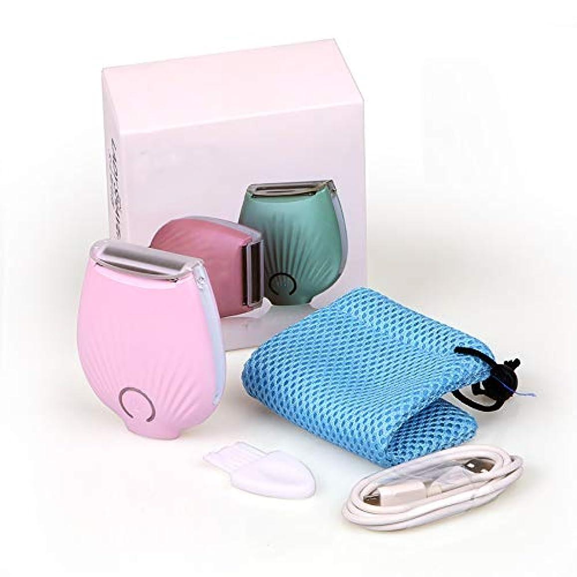 製油所告白実行可能女性のための電気かみそり、足のための痛みのないビキニトリマーボディ毛の除去剤濡れて乾いたコードレス充電式防水,Pink