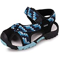 UOVO Boys Sandals Hiking Closed Toe Outdoor Sandals Athletic Beach Sandals Kids Summer Shoes Breathable