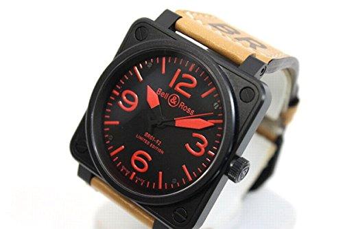 BELL&ROSS(ベル&ロス) ヘリテージ ブラックコーティング メンズ腕時計 自動巻 世界500本限定 BR01-92 [中古]