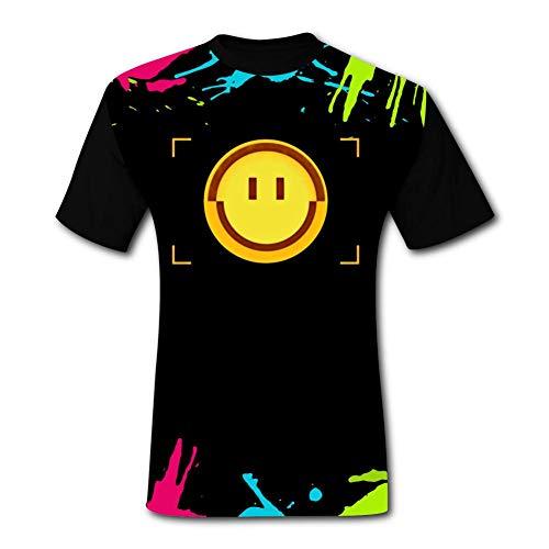 メンズ 半袖Tシャツ A-Pex Legend Smile-Finder 夏服 短袖 Tシャツ 半袖トップス スポーツショートスリーブ T-Shirt