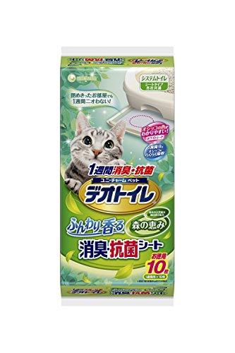 デオトイレ ふんわり香る消臭・抗菌シート 森の恵み 10枚入り