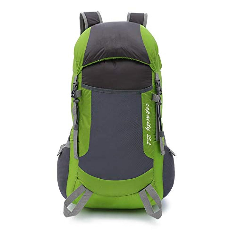 解決する傾向トランク折り畳み超軽量バッグ旅行バックパックアウトドアバックパック登山バッグライト (色 : 緑)