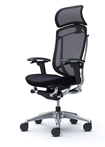 オカムラ オフィスチェア コンテッサ セコンダ 可動肘 エクストラハイバック 座:クッション ブラック CC87BR-FPC1
