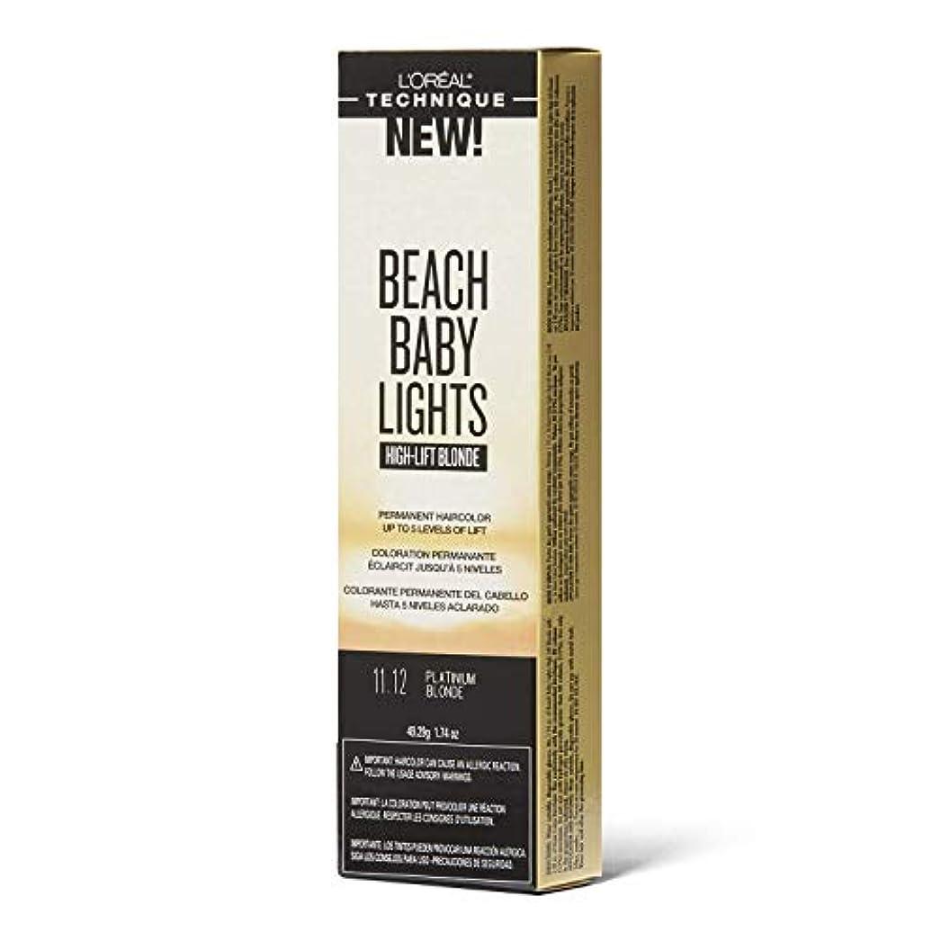頼る幸運なモックL'Oreal Paris L'Orealのビーチ赤ちゃんライトハイリフトプラチナブロンド11.12プラチナブロンド