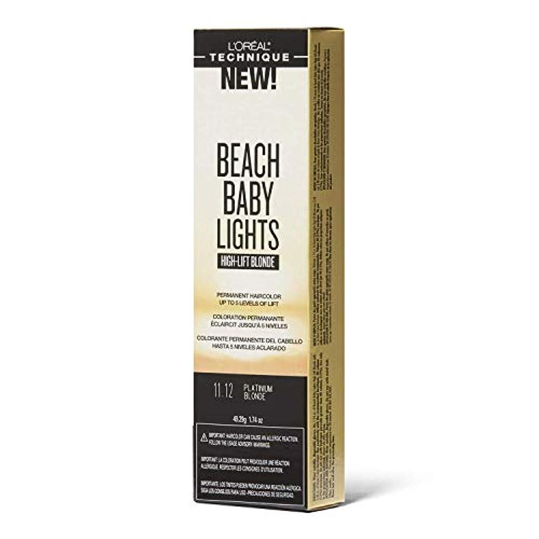 不承認ビジュアル出力L'Oreal Paris L'Orealのビーチ赤ちゃんライトハイリフトプラチナブロンド11.12プラチナブロンド