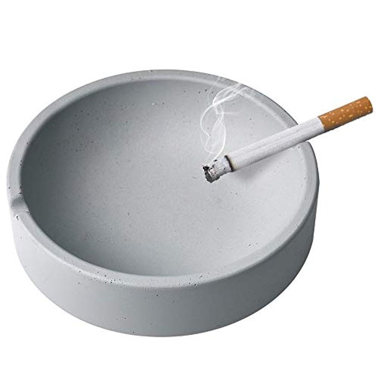 誰のマグ命題家庭用産業風コンクリート灰皿、パーソナライズ屋外灰皿、多人数使用シーンリビングルームオフィスレストラン灰皿装飾 (Size : L)