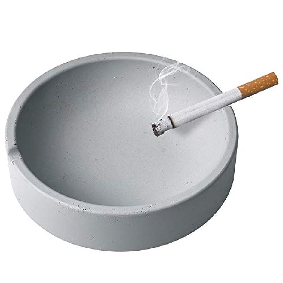 ミケランジェロスリッパ誰家庭用産業風コンクリート灰皿、パーソナライズ屋外灰皿、多人数使用シーンリビングルームオフィスレストラン灰皿装飾 (Size : L)