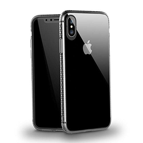 iPhone X ケース, 超薄 超軽 高品質シリコン 耐衝...