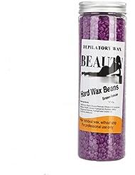 (アーニェメイ)Bonjanvy ハードワックスキット 400g 1缶 ブラジリアンワックス デリケートゾーン 脱毛ワックス 鼻毛-バイオレット