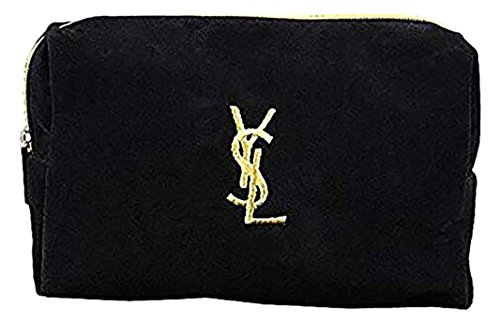 Yves Saint Laurent イヴサンローラン コスメポーチ 小物入れ ブラック×イエロー ...