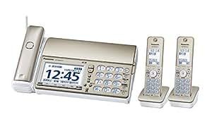 パナソニック デジタルコードレスFAX 子機2台付き 迷惑電話対策機能搭載 シャンパンゴールド KX-PD604DW-N