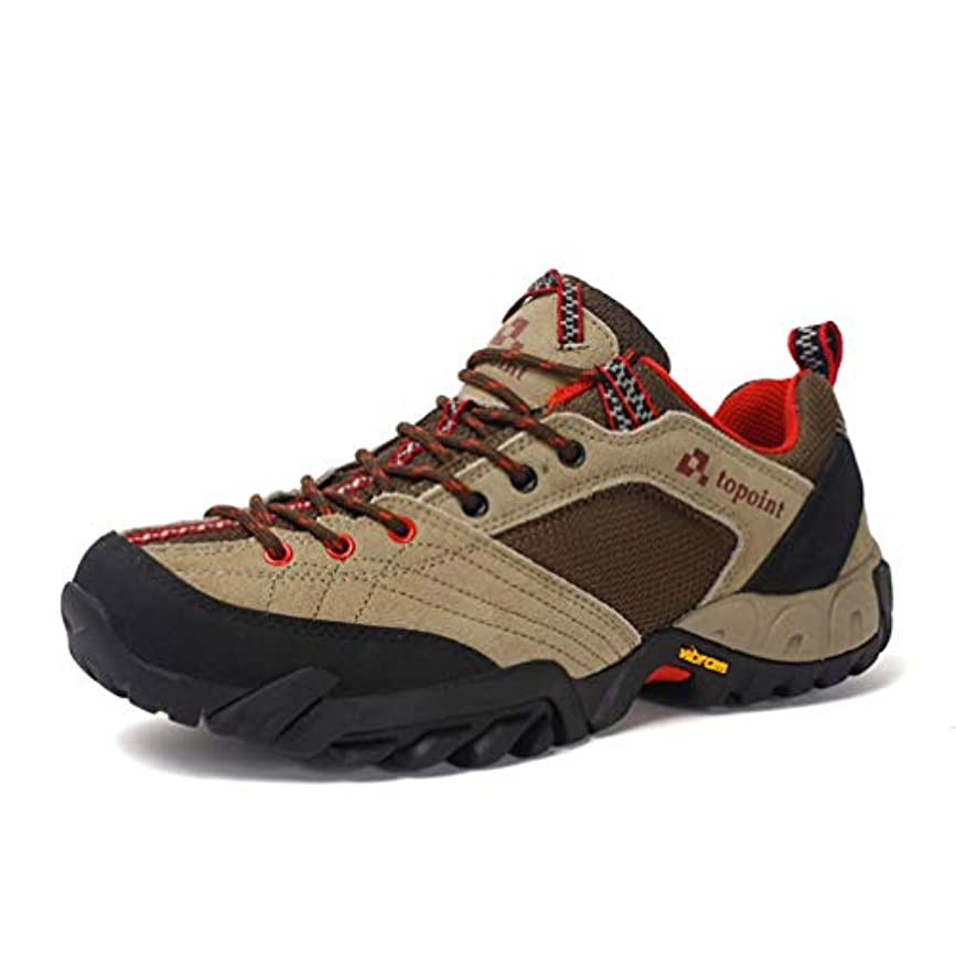 分泌するゲージ言い直す大きいサイズ ハイキングシューズ メンズ トレッキング 登山靴 防滑 通気性 軽い 防水 アウトドア ウォーキング 耐磨耗 レースアップ カーキ 25.5cm 秋 クッション 27cm
