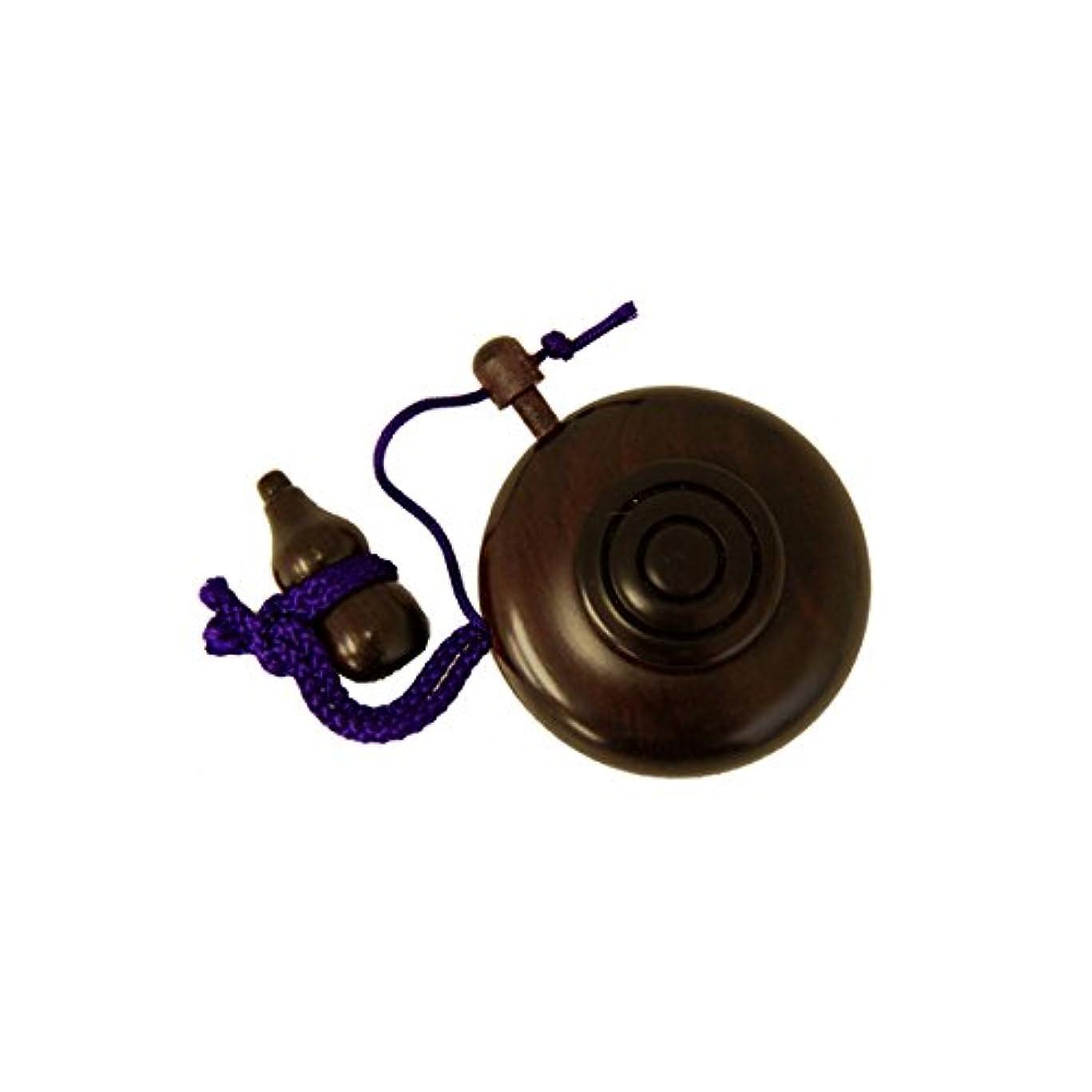 ヒューズ一般質素な塗香入(紫檀) 紙箱入
