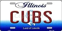 CUBS Illinois ノベルティステートバックグラウンド バニティ メタル ナンバープレート タグサイン