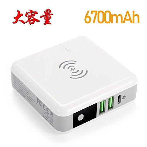 充電器,モバイルバッテリー 6700mAh 大容量 パワーバン...
