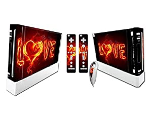 Nintendo Wii Skin Design Foils Faceplate Set - Love Design