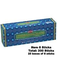Frankincense & Myrrh 25-pack (8 Sticks perパック)