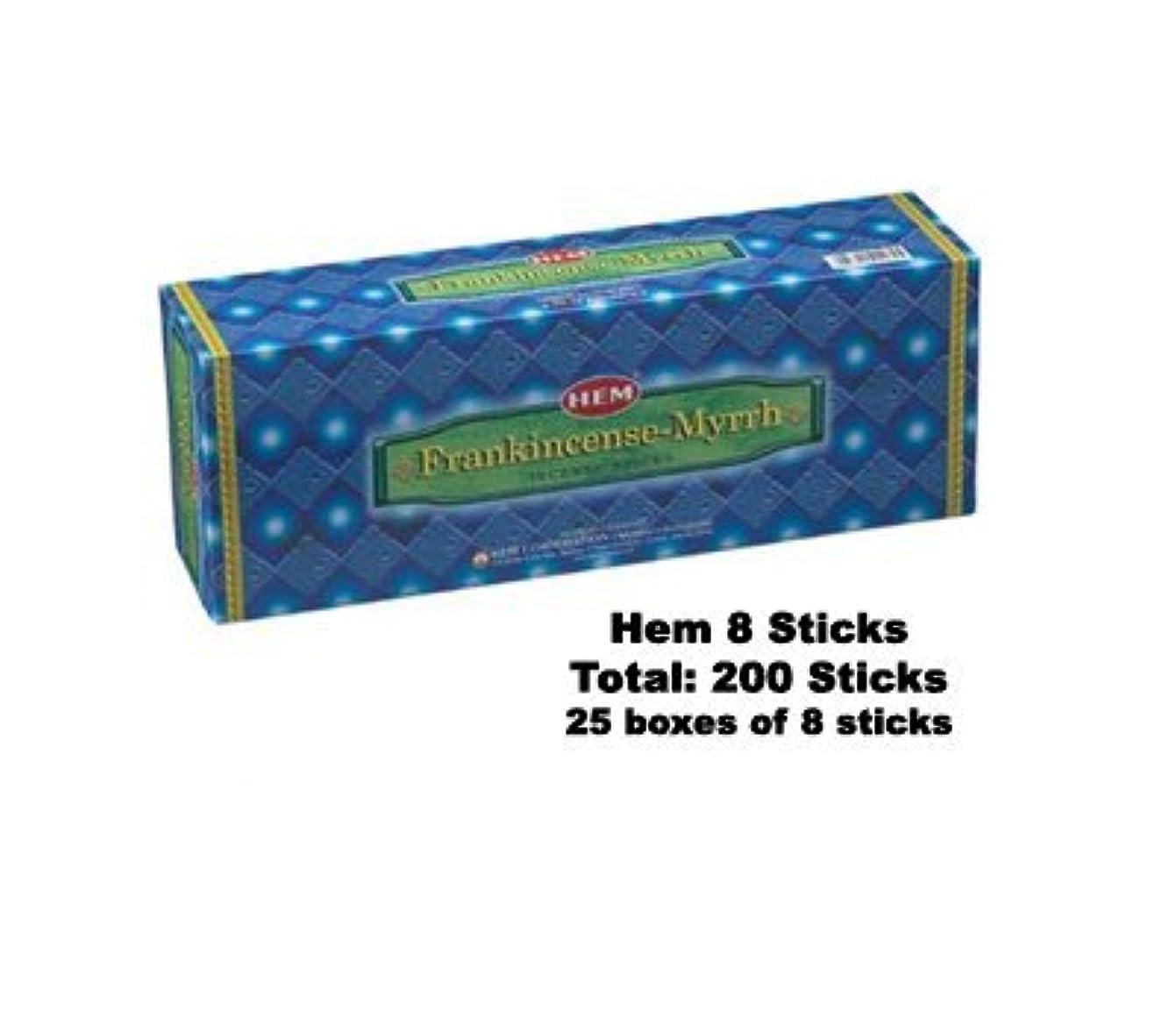 縫う形成不明瞭Frankincense & Myrrh 25-pack (8 Sticks perパック)