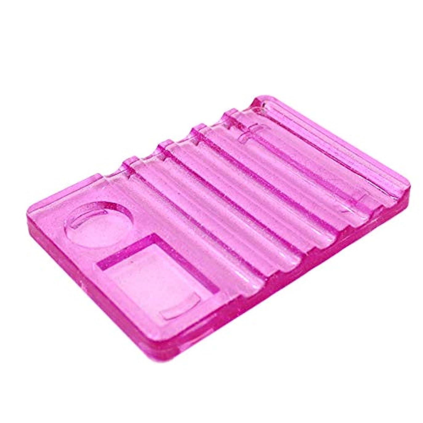 掃くパーク集めるTOOGOO 1個ブラシペン用クリスタルネイルアートブラシホルダーディスプレイスタンドレストツール、ピンク