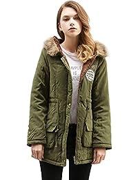 EASONDDD 全13色 レディース コート 中綿 ジャケット モッズコート アウター 裏ボア ミリタリーコート 中綿コート 長袖 フード付き フェイクファー ミリタリー ロング カジュアル エレガント 大きいサイズ