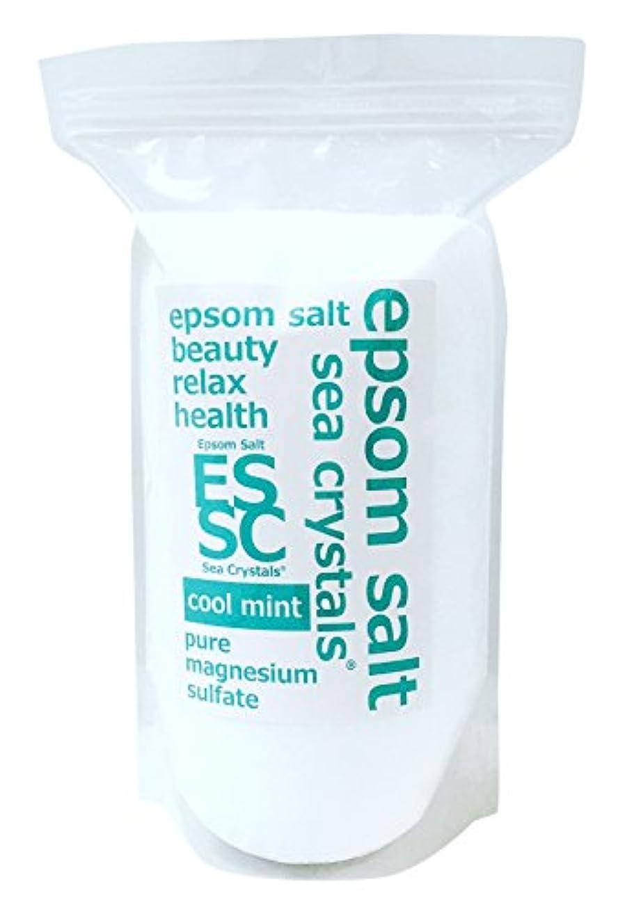 解放する他の場所事実シークリスタルス 国産 エプソムソルト(硫酸マグネシウム) クールミント2.2kg 浴用化粧品 計量スプーン付