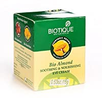 Biotique Bio Almond Soothing and Nourishing Eye Cream - 15g (Pack of 2) (Ship from India)