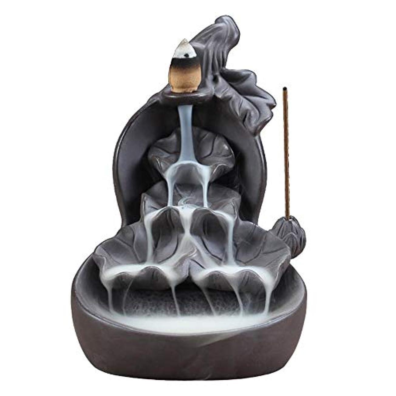 震えジョブアークSLLING 蓮 セラミック 香炉 逆流香炉ホルダー 逆流香炉 蓮の手作りお香ホルダー 滝 お香 コーン型 10個入り