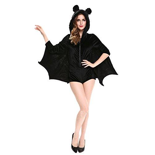 ノーブランド ハロウィン レデイース コスプレ 蝙蝠服 コスプレ衣装 セクシー 巫女 吸血鬼 悪魔 変装 コウモリ コスチューム クリスマス 女王
