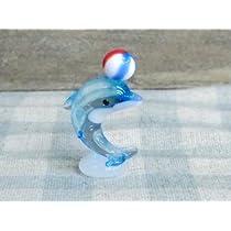 ガラス細工 イルカの曲芸 ボール