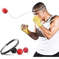 SUMDY ボクシング用リフレックスボール ボクシングファイトボール用リフレックス スピード反応と手の目の協調を向上 難しいレベルのボクシングボール ヘッドバンド付き