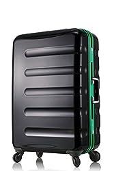 レジェンドウォーカー スーツケース 静音キャスター TSAロック 一年保証 ブラック・グリーン Mサイズ-60cm