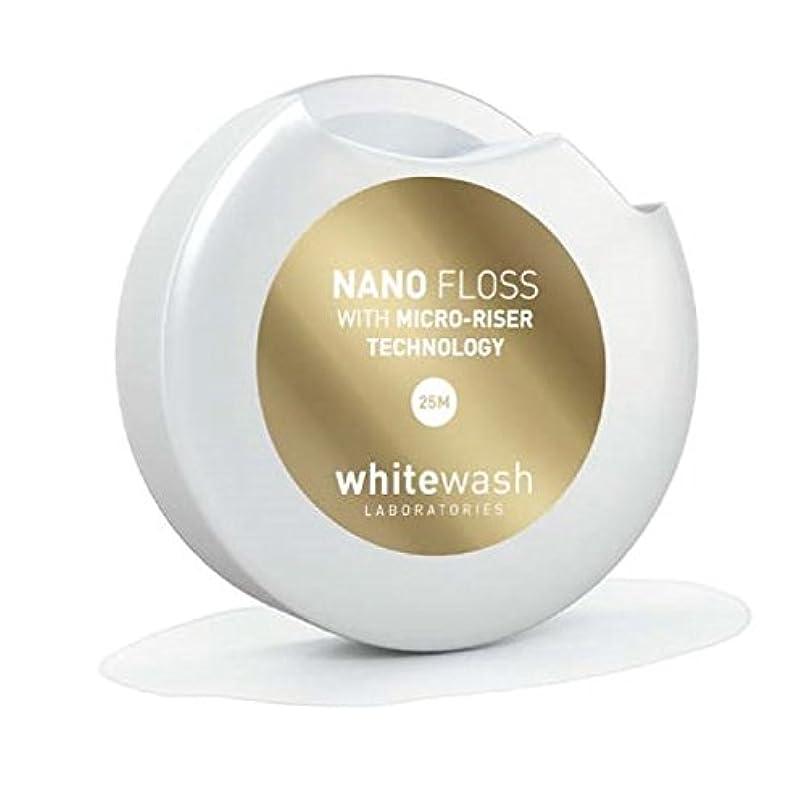 瞬時に絡まる保証するホワイトウォッシュ ラボラトリーズ | 高級 高品質 デンタル フロス | ナノ フロス マイクロライザー テクノロジー | 25メートル