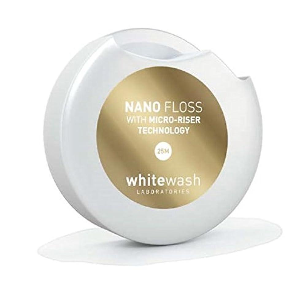 人間集中キャリアホワイトウォッシュ ラボラトリーズ | 高級 高品質 デンタル フロス | ナノ フロス マイクロライザー テクノロジー | 25メートル
