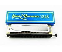 Kaine Chromatic Harmonica 12 Hole 24 Tone Chromonica Chrome [並行輸入品]