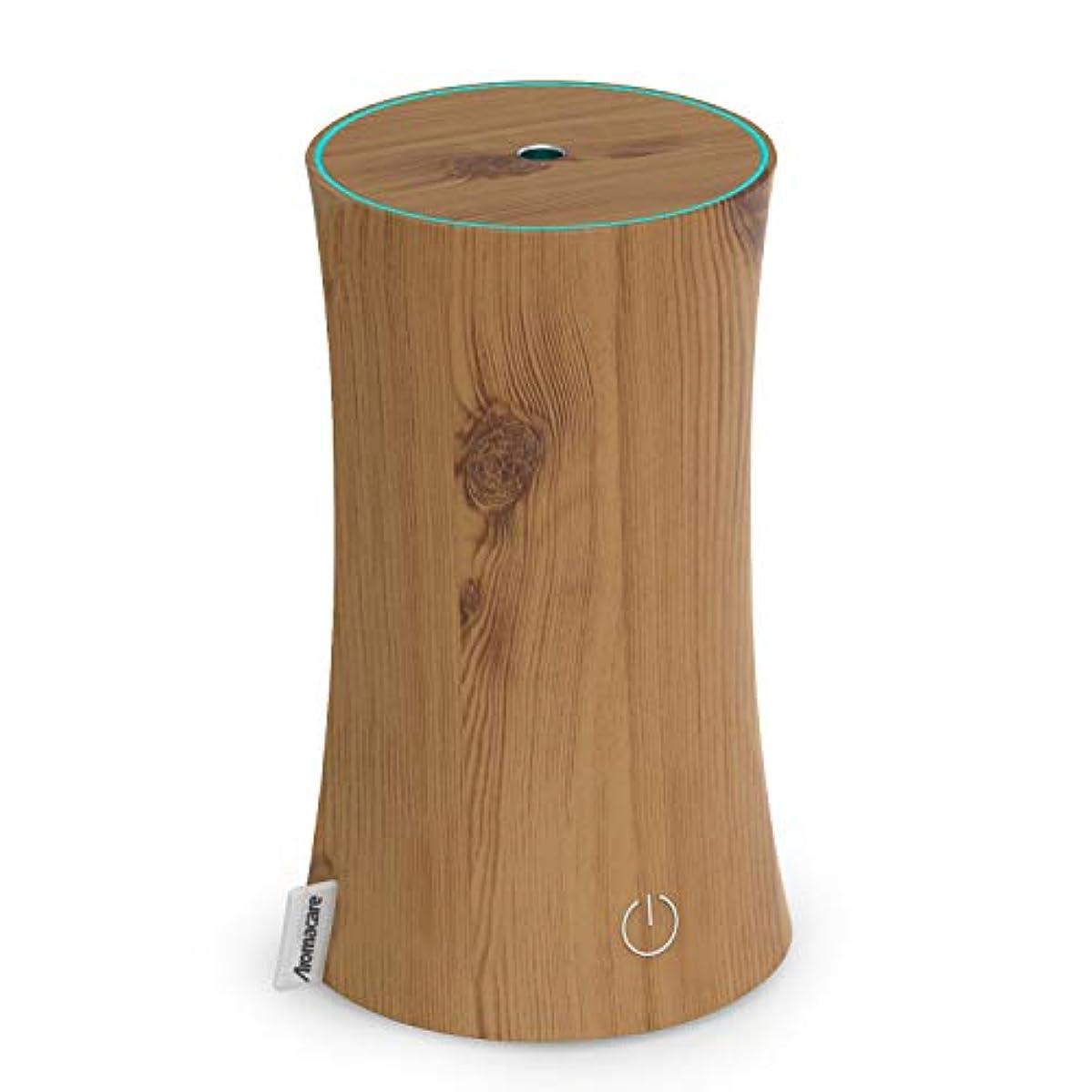 すり減る家主ベットアロマディフューザー 卓上加湿器 センサー付き 超音波式 空焚き防止 低騒音 300ml 連続運転 各場所用 省エネ 木目調 木の色