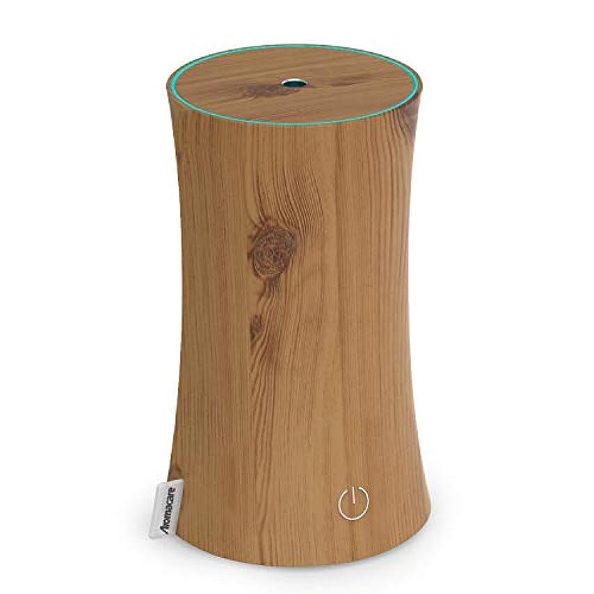 いつか切り下げ代表団アロマディフューザー 卓上加湿器 センサー付き 超音波式 空焚き防止 低騒音 300ml 連続運転 各場所用 省エネ 木目調 木の色
