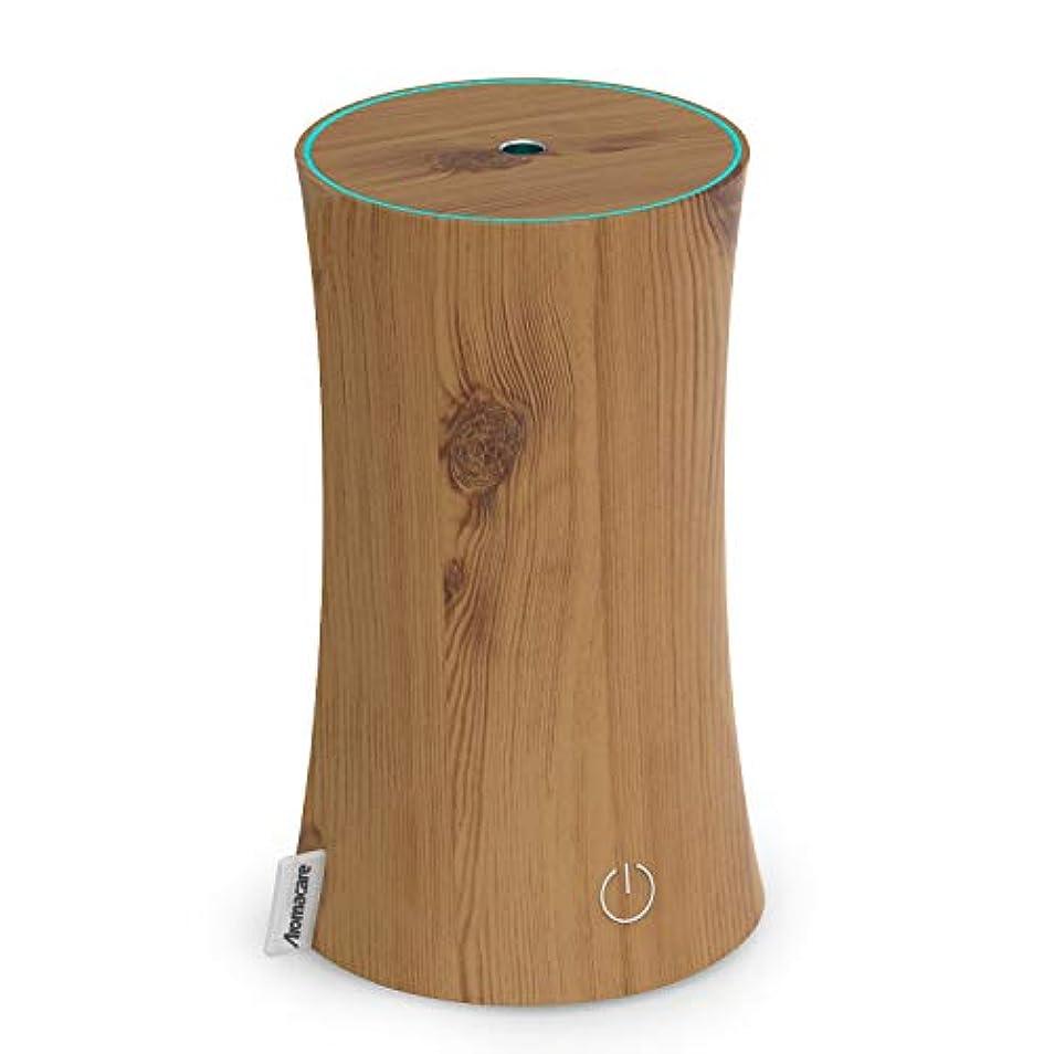 鈍い配置雄弁アロマディフューザー 卓上加湿器 センサー付き 超音波式 空焚き防止 低騒音 300ml 連続運転 各場所用 省エネ 木目調 木の色