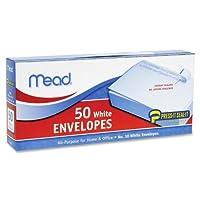 Mead : Plain封筒、NO 10、自己シール、50/ BX、ホワイトの2パックとして販売–: -–50–/–Total of 100各