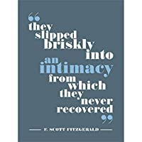 Fitzgerald Intimacy Never Recovered Blue Canvas Wall Art Print 青壁