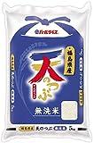 【精米】 福島県産 無洗米 天のつぶ 5kg 令和元年産