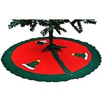 (ラボーグ) La vogue クリスマスツリー スカート 飾り クリスマスツリー オーナメント 雪だるま柄 ツリースカート90cm グリーンライン